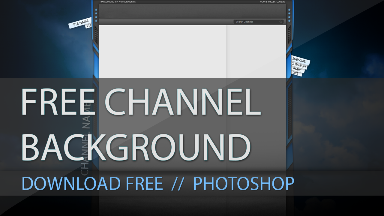 Free Youtube Channel Background Free Download By Projectcode On
