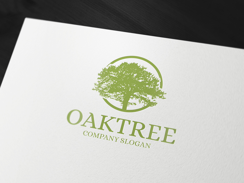 Oak-tree-logo-template by LiveAtTheBBQ