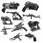 10 Steampunk Weapon PS Brushes