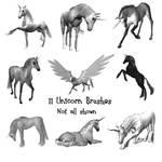 11 Unicorn PS Brushes