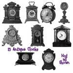 15 Antique Clock PS Brushes