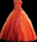Orange Gown