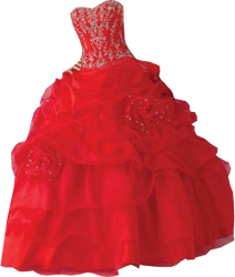 Red gown small