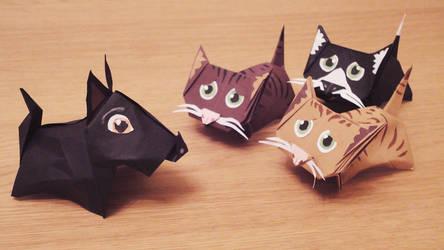 Origami Friends by nancekievill