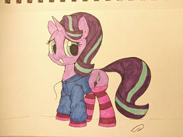 Starlight Glimmer in a hoodie and socks by Taurson