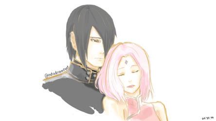Sasuke and Sakura by hatakekakashi511