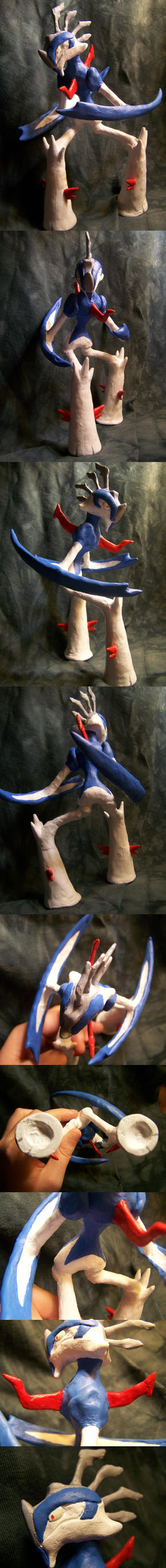 Magni the Gallade Sculpture by Iron-Zing