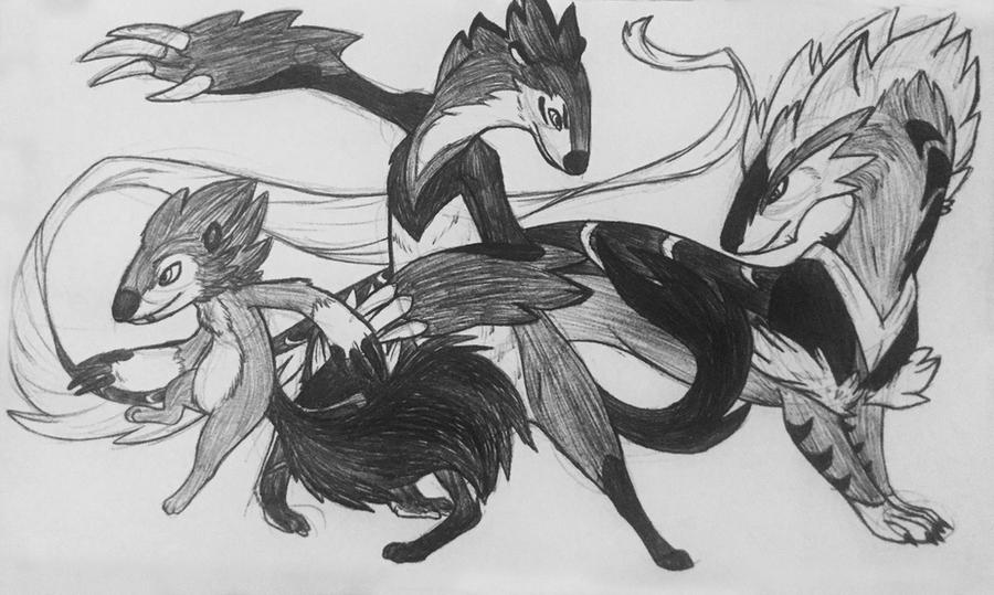 Line Drawing Monster : Mino monsters blazel evolution line by iron zing on deviantart
