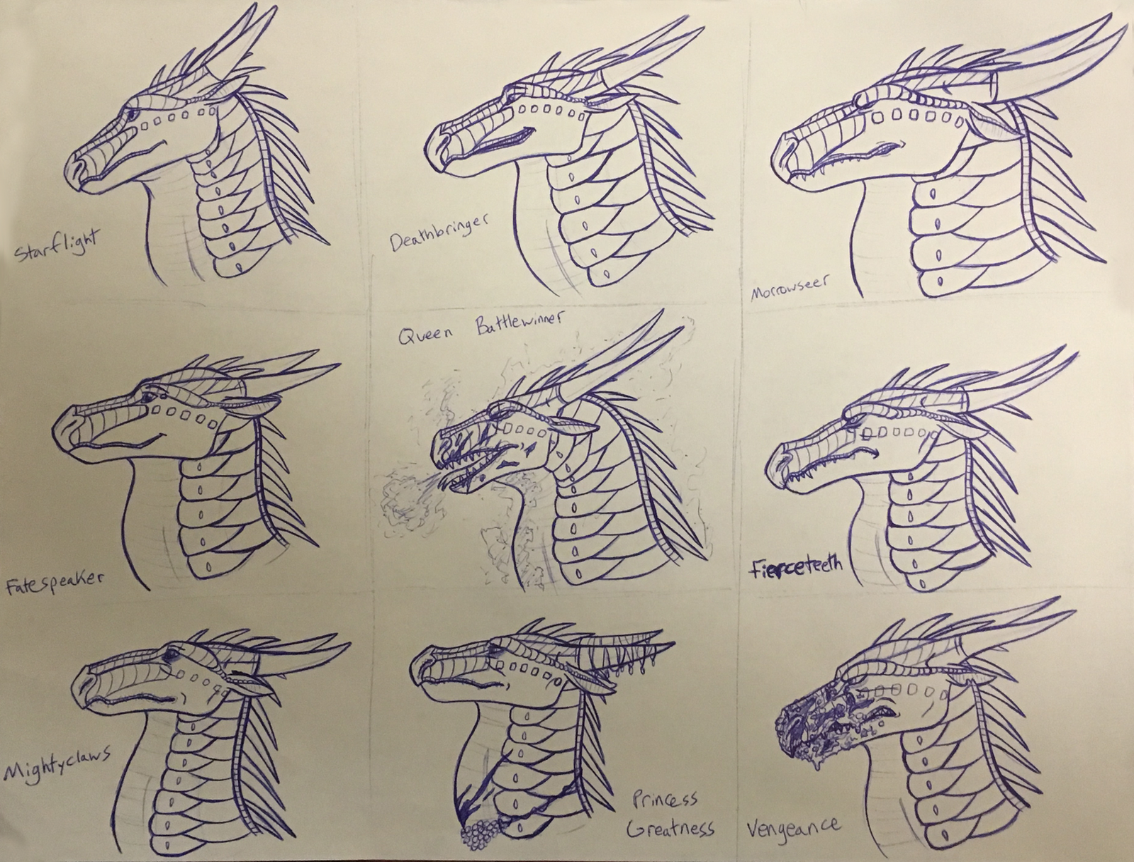 Wings of Fire: Nightwing character studies by Iron-Zing