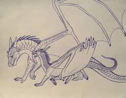 Wings of Fire: Fierceteeth x Strongwings by Iron-Zing