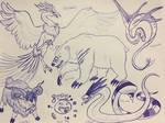Dragon Quest Monsters sketch dump