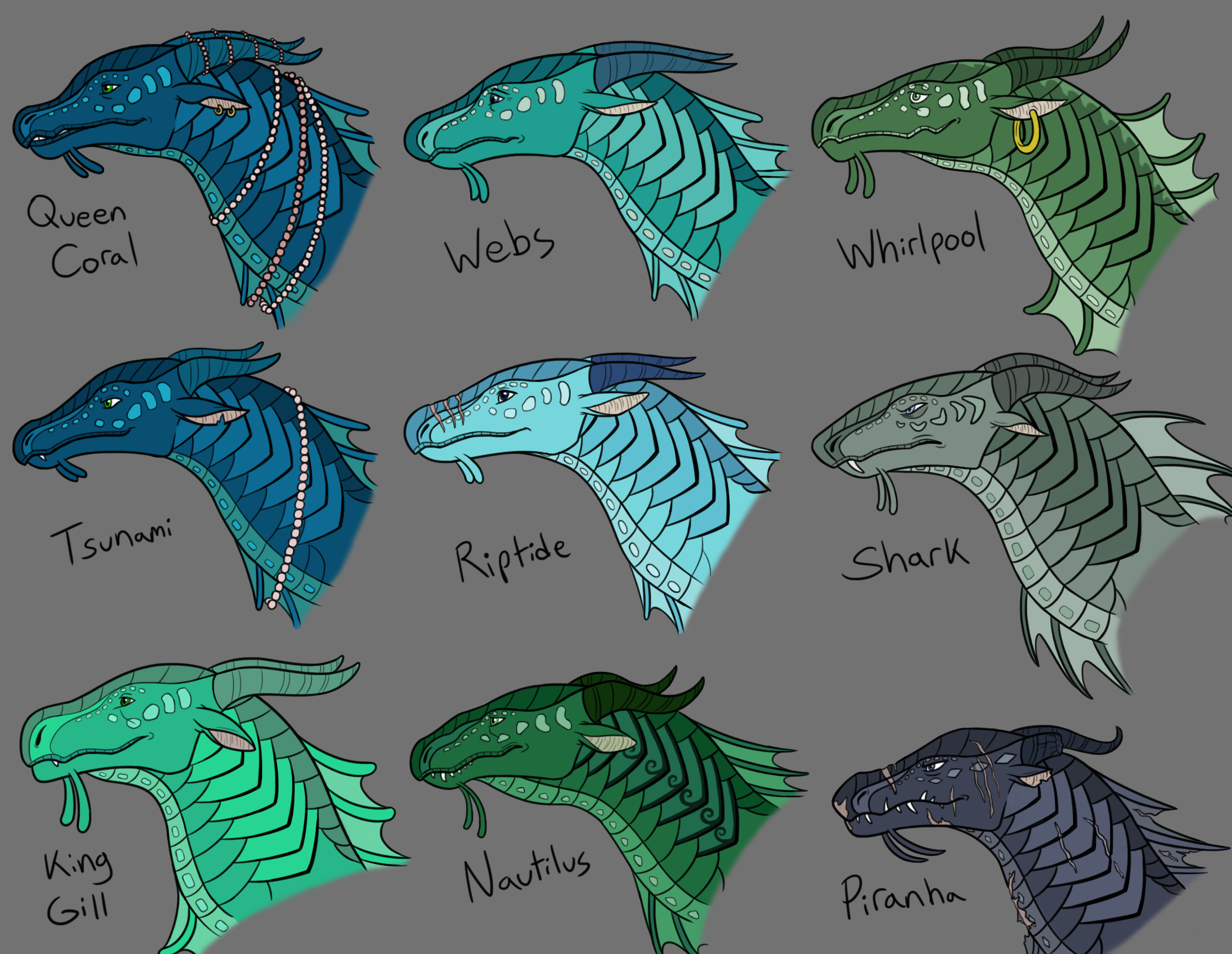 WOF Seawing Character Studies Colored by Iron-Zing on ...