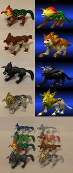 Monster Rancher Custom Tiger figures