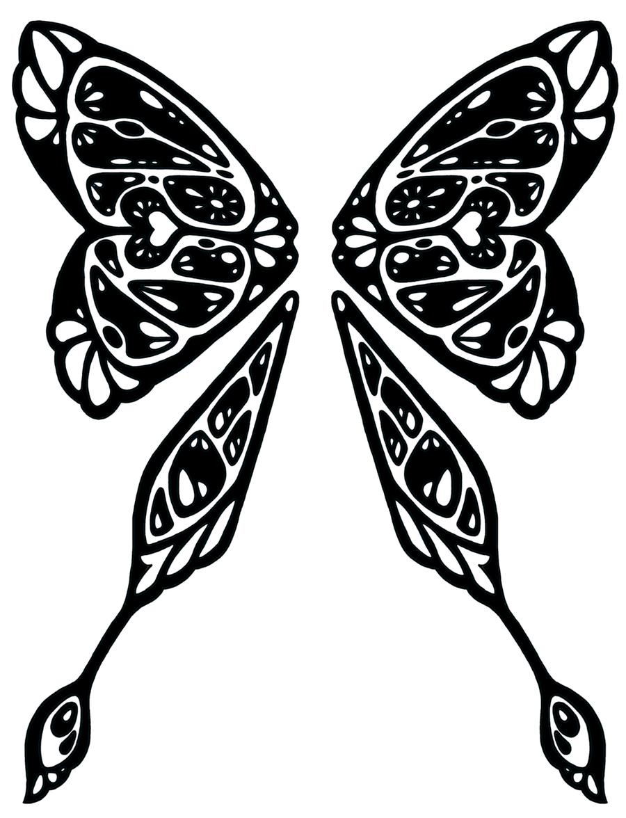 Tribal Wings 5 by DarkCobalt86 on DeviantArt