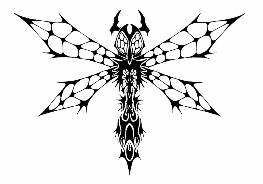 Tribal Insect - dragonfly tattoo