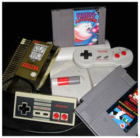 NES and Games by DarkCobalt86