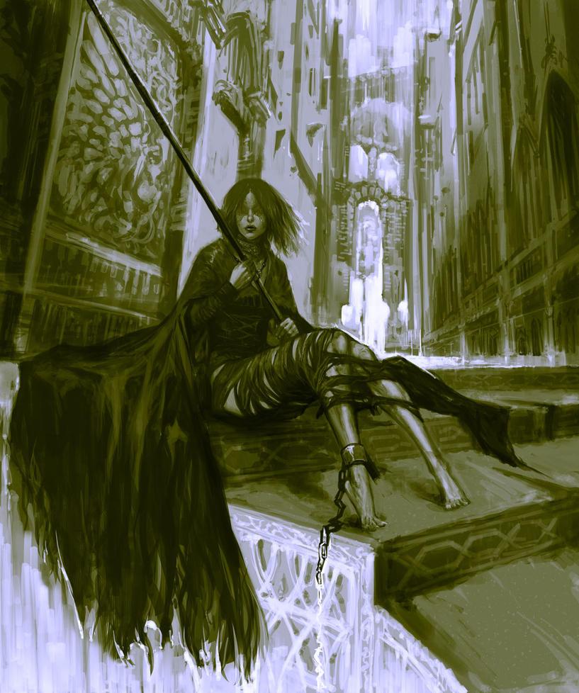 Maiden in Black by masateru