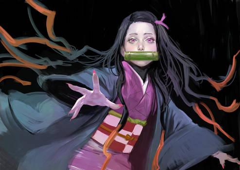 fan art  Nezuko Kamado