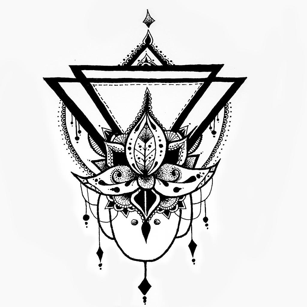 Lotus Flower Geometric Drawing By Kroko69 On Deviantart