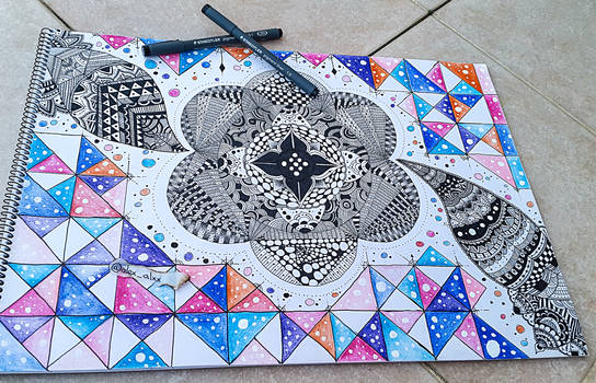 Freestyle Mandala - Doodling - Colors by KroKo69