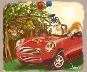 The Great American Barbeque by puppetdemon