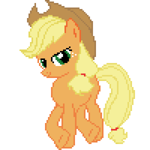 Applejack (pixel Art) By AjgorB25 On DeviantArt