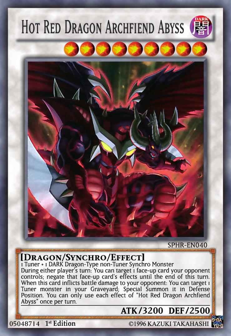 red dragon archfiend abyss yugioh ocg lq by yeidenex on deviantart