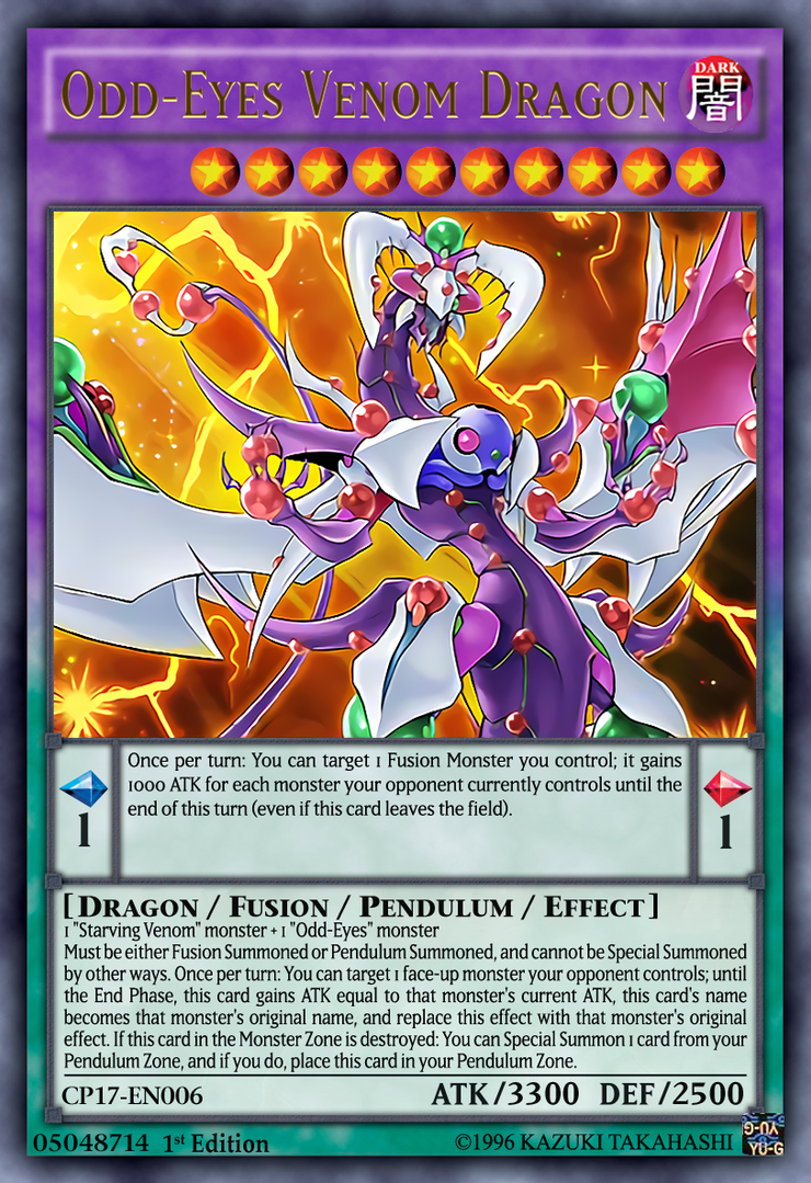 Odd-Eyes Venom Dragon Yugioh OCG by yeidenex