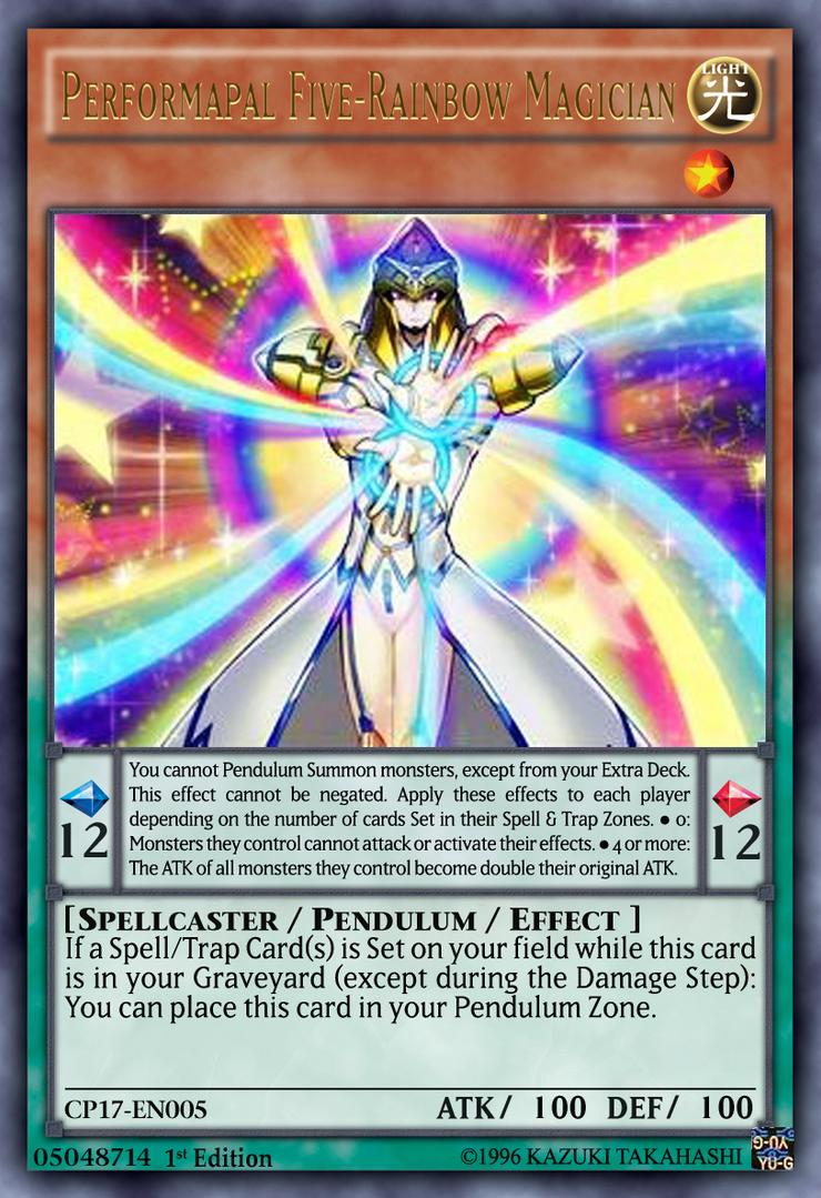 Performapal Five-Rainbow Magician Yugioh by yeidenex