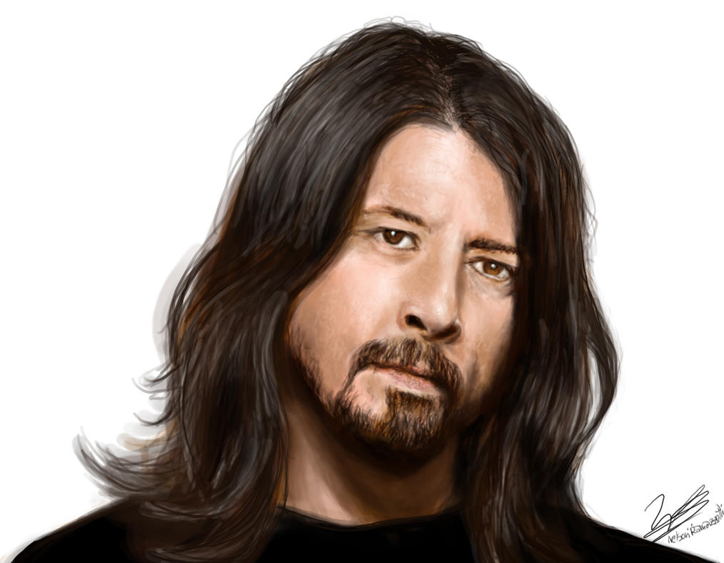 Dave Grohl Portrait by Nelson-Ramazzotti