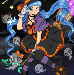 PaigeeWorld Halloween Colouring Contest Entry by ShadowLuvIOI