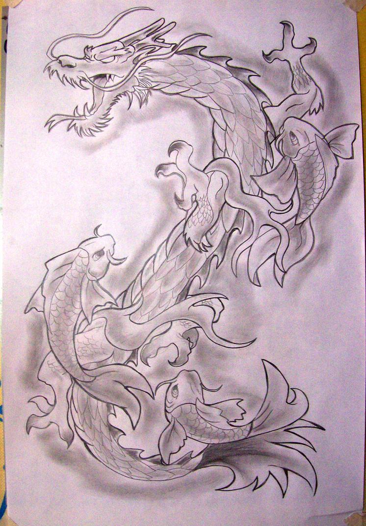 dragon koi tattoo by phantom ops on deviantart