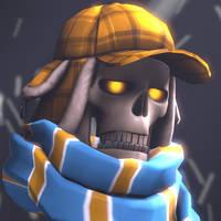 A wintery profile picture