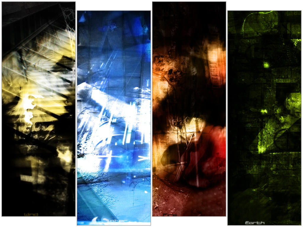 Four Elements Art : The four elements wp by rennegade on deviantart