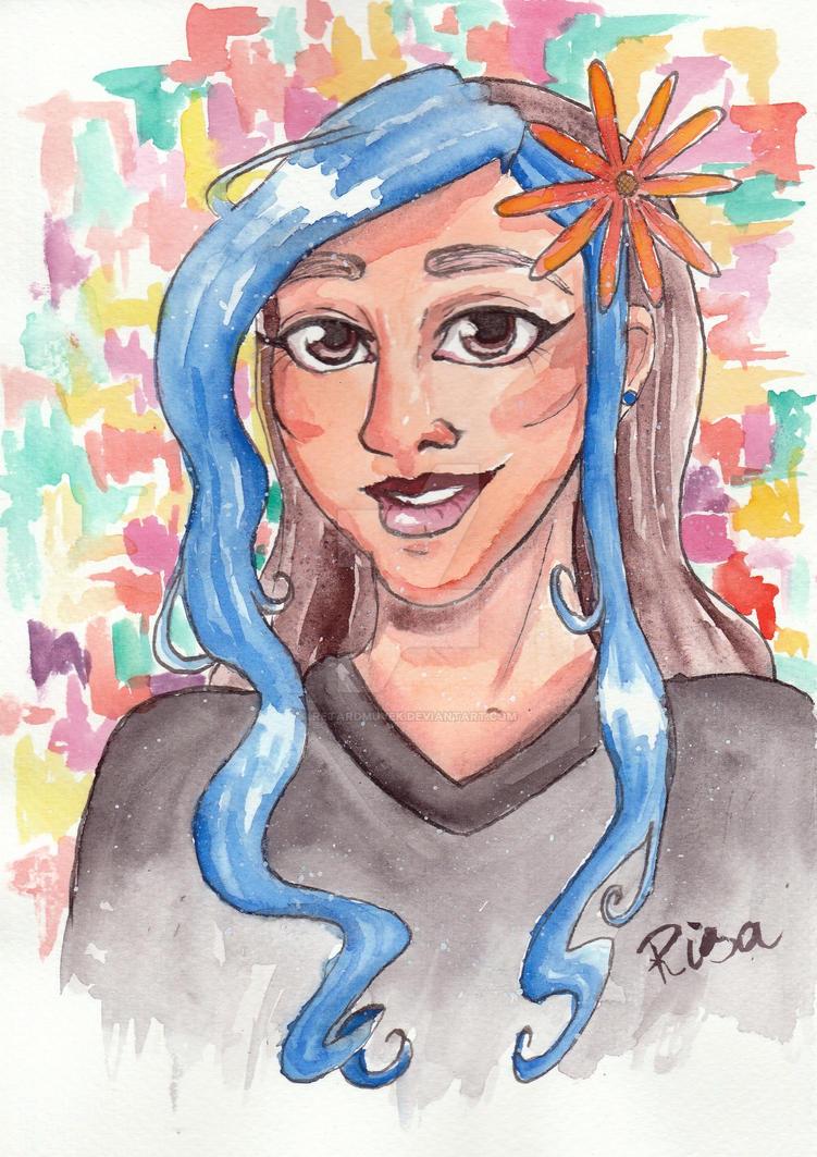 Risa with watercolor by Retardmuvek