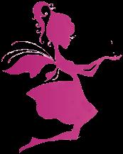 Silueta de Hada Pink PNG