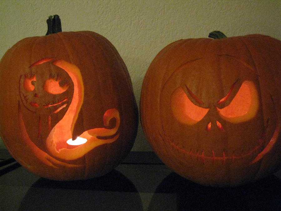 jack and sally pumpkin carving template - photo #18