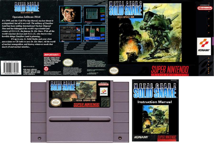 metal gear 2 snes by kevinstriker on deviantart rh deviantart com Snake Metal Gear Solid 2 metal gear solid 2 instruction manual