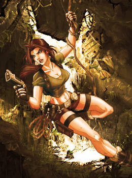 Lara Croft colored by wandolina