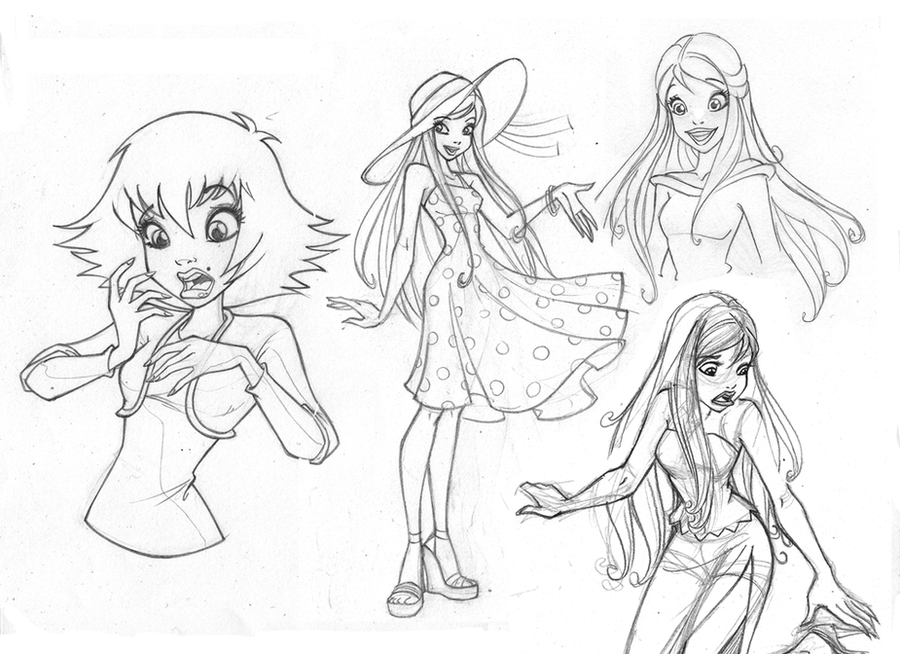 Barbie sketches for painting – acfm
