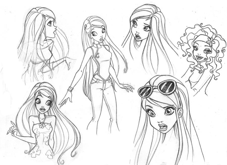 Barbie U0026#39;s Sketch 2 By Wandolina On DeviantArt