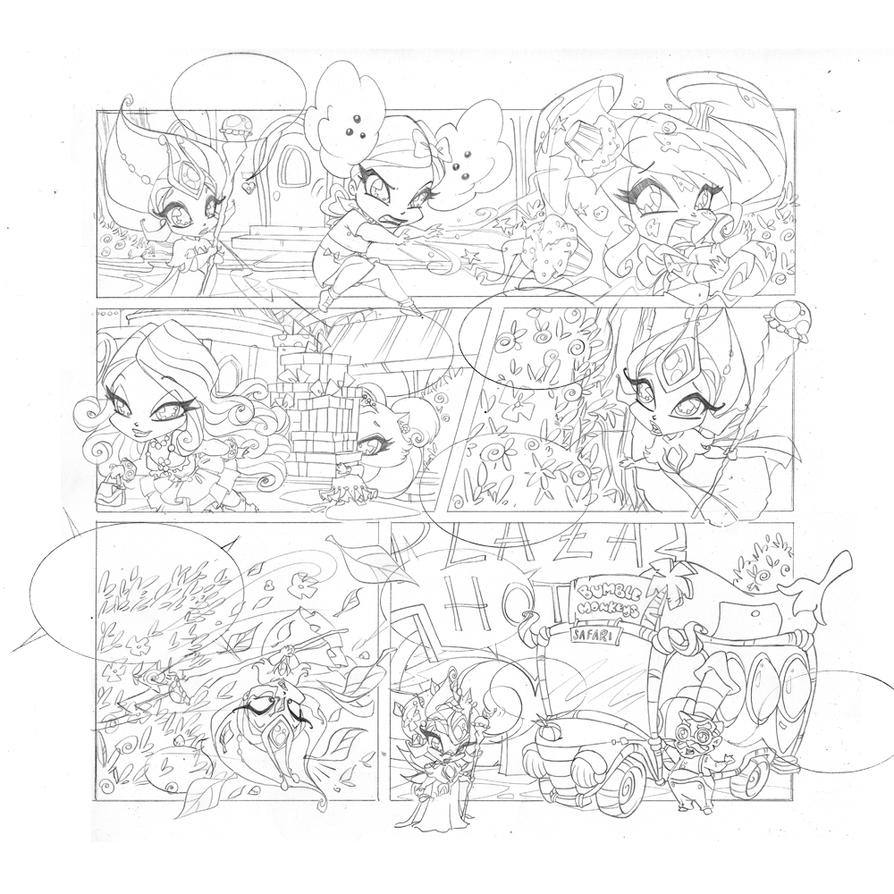 Line Art Xl 2011 : Poppixie magazine by wandolina on deviantart