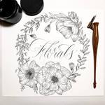 Calligraphy Florals