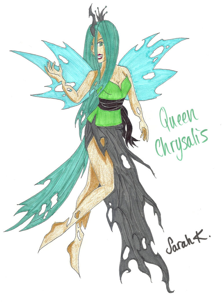 Human Queen Chrysalis by singstargirl13