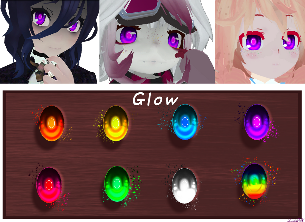 MMD] Glow Eyes - DL by DoodleF0X on DeviantArt