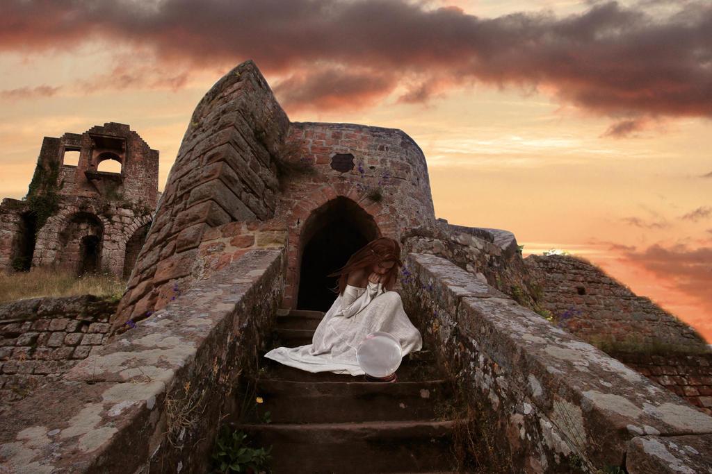 Girl in castle