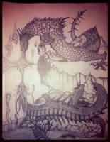 Serpent Dragon Battle by DragoAngelgriff