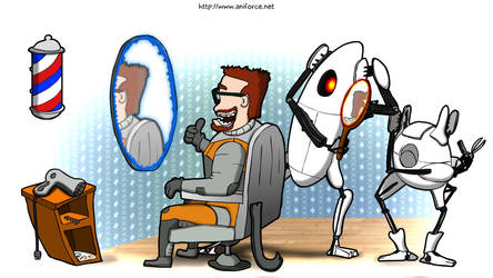 Portal barbers by Aniforce