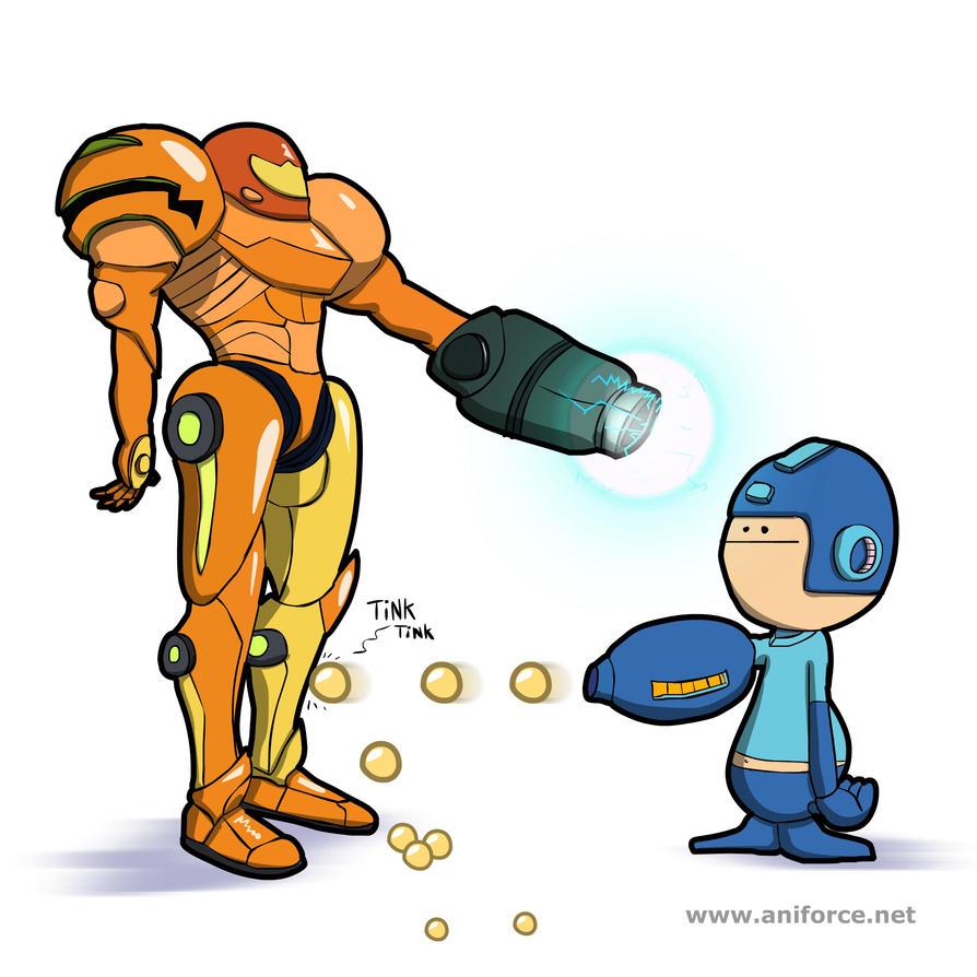 Samus Vs. Megaman by Aniforce