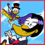 Scrooge McDuck beating the hell out of Magica